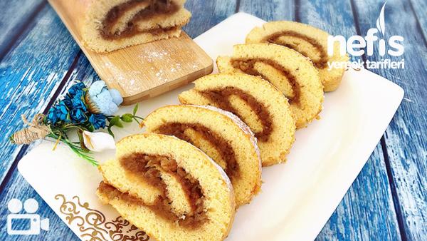Elmalı Rulo Pasta (Pratik) Tarifi