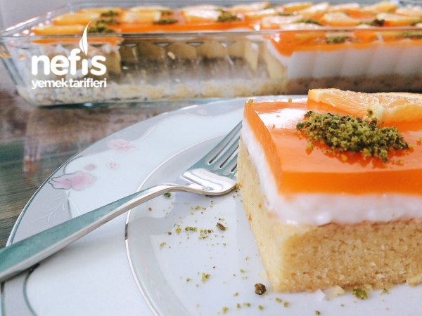 Portakallı Kremalı Islak Kek(Mutlaka Deneyin)