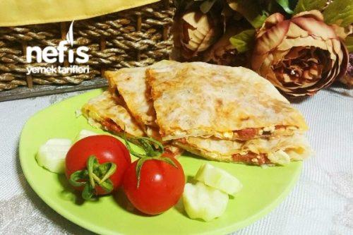 Tavada Gözleme Pizza Tarifi