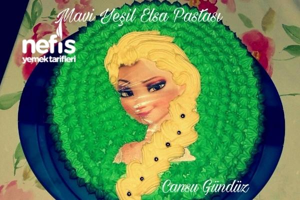 Mavi Yeşil Elsa Pastası Tarifi