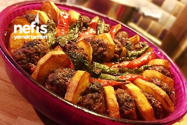 Fırında Köfteli Patates Dizmesi Tarifi