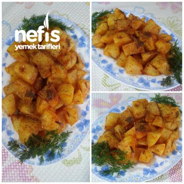 Soslu Baharatlı Közlenmiş Patates (Et Balık Yanına)