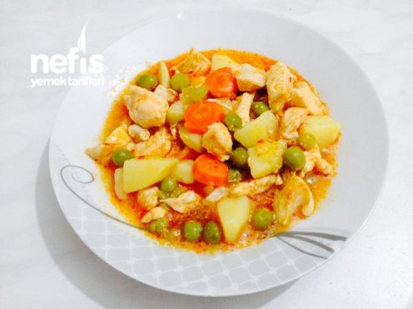 Tavuklu Bezelye Yemeği - Nefis Yemek Tarifleri - Mutlu Mutfak