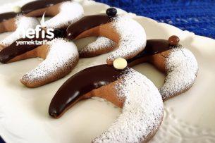 Kahveli Ve Çikolatalı Ay Kurabiye Tarifi