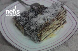 Bisküvili Pasta (Fırın Kullanmadan Hazır) Tarifi