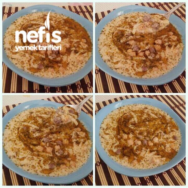 Köfteli Erişteli Yoğurtlu Çorba (Erzincan Çorbası)