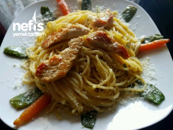 Kremalı Parmesan Peynırlı Spagettı