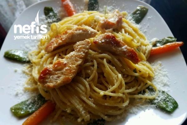 Kremalı Parmesan Peynirli Spagetti