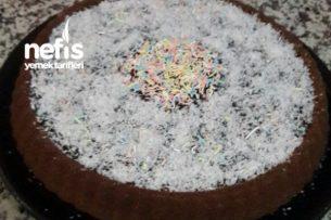 Tart Kalıbında Çikolata Soslu Kek Tarifi