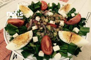 Doyurucu Yeşil Mercimek Salatası (Diyet) Tarifi