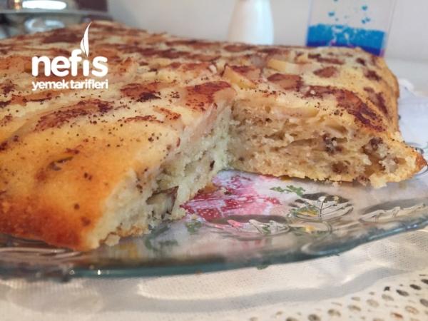 Nefis Elmalı Tarçınlı Cevizli Kek