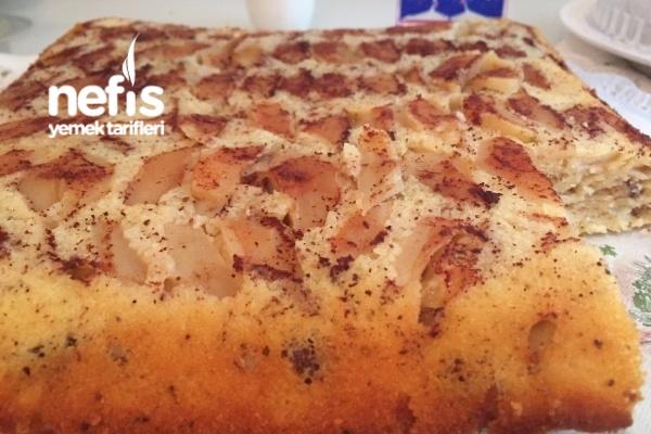 Nefis Elmalı Tarçınlı Cevizli Kek Tarifi