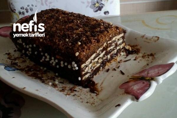 Süt Kutusunda bisküvili Çikolatalı Pasta