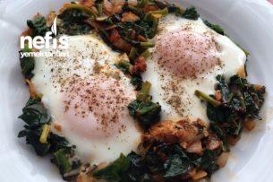 Kahvaltılık Yumurtalı Ispanak Tarifi