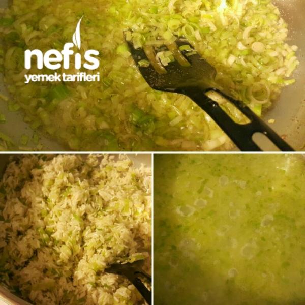 Yasmine Pirinçli Pırasalı Pilav