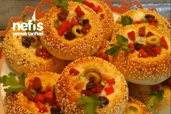 Simit Pizza (Puf Puf) Tarifi