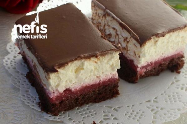 Frambuazlı Islak Pasta (Bide Böyle Deneyin) Tarifi