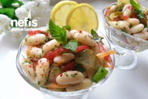 Ekşi Soslu Fasülye Salatası (Muhteşem) Tarifi