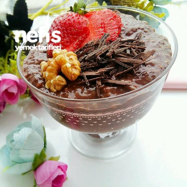 Kilo Aldırmayan Kakaolu Chia Puding