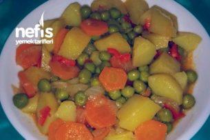 Patatesli Havuçlu Bezelye Yemeği Tarifi