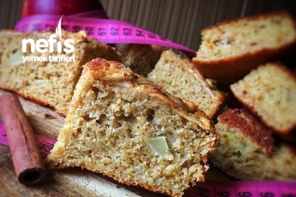 Tarçınlı Elmalı Diyet Kek (Şekersiz-Yağsız) Tarifi