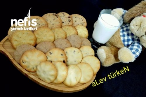 Pratik Cookie (Tek Hamur 5 Farklı Çeşit) Tarifi