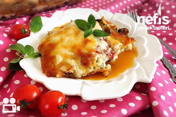 Beşamel Soslu Patlıcan Musakka Videosu Tarifi