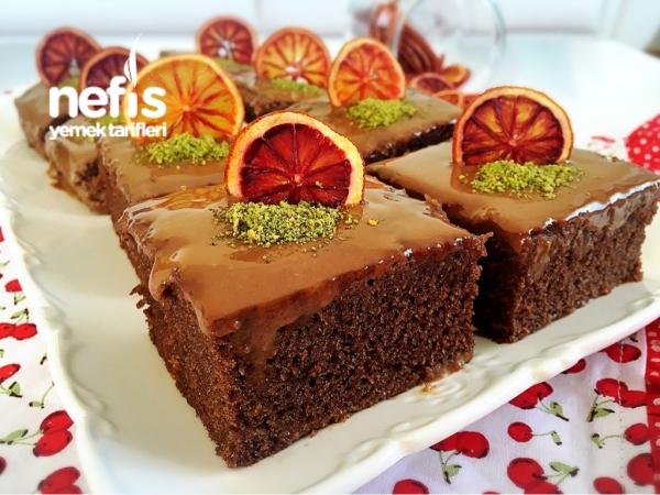 Portakallı Çikolatalı Islak Kek
