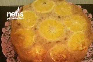 Portakal Dilimli Üzümlü Cevizli Kek Tarifi