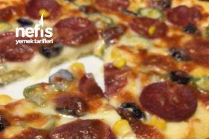 Hamursuz Unsuz Diyet Pizza Tarifi