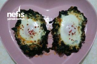 Tavada  Kolay Yumurtalı Ispanak Tarifi
