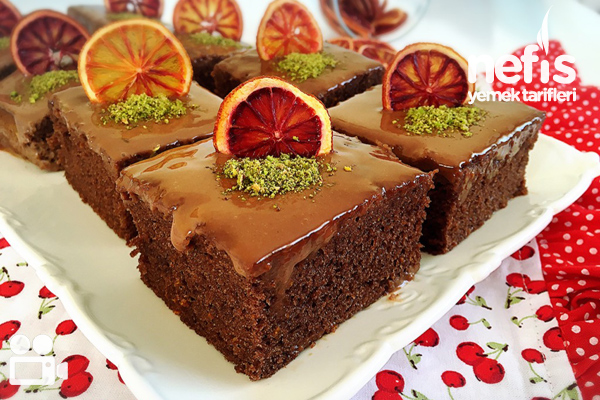 Portakallı Çikolatalı Islak Kek Videosu Tarifi