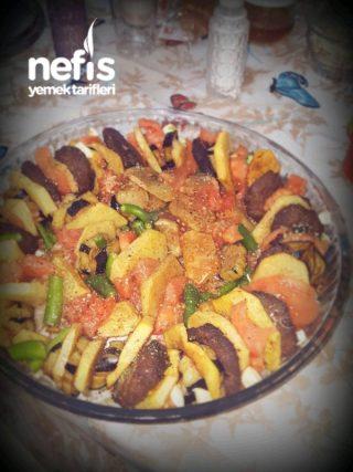 """""""Fırında Ķöfte+Patates+Patlıcan"""""""