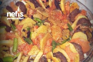 Fırında Köfte,Patates,Patlıcan Tarifi