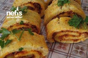 Patatesli Kıymalı Rulo Pasta Tarifi
