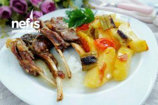 Fırında Sebzeli Nefis Lokum Pirzola Tarifi