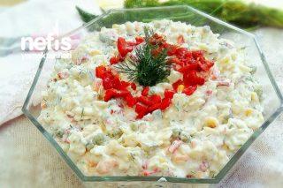 Bol Malzemeli Şehriye Salatası (Gün / Misafir) Tarifi