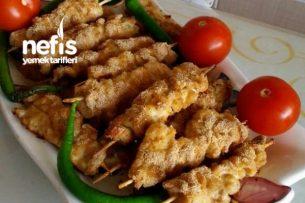 Fırında Çöp Şişte Tavuk Şinitzel Tarifi