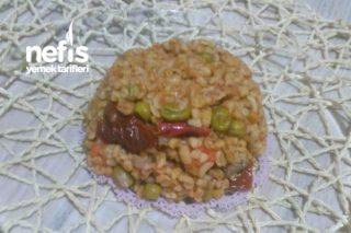 Sebzeli-Mantarlı Bulgur Pilavı Tarifi