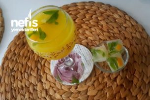Nefis Ev Yapımı Limonata (1 Portakal   1 Limon İle) Tarifi