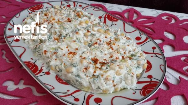 Yogurtlu Yer Elması Salatası