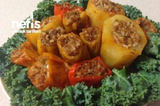 Kabak ,Biber, Patates dolması Tarifi