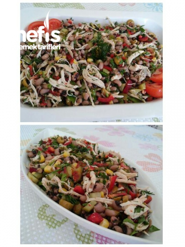 Tavuklu Börülce Gün Salatası