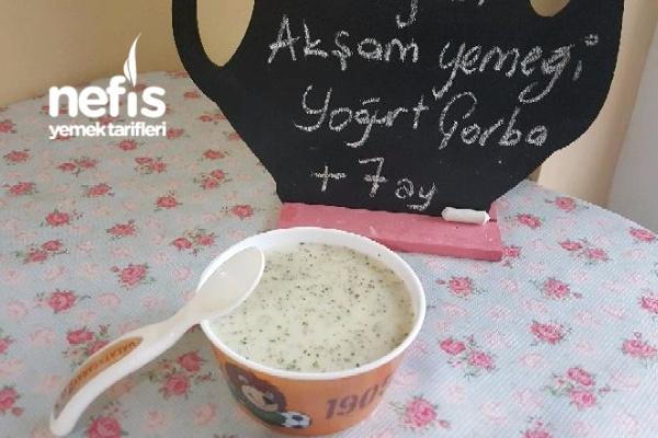 Yoğurt Çorbası +7 Ay (Yumurtasız)