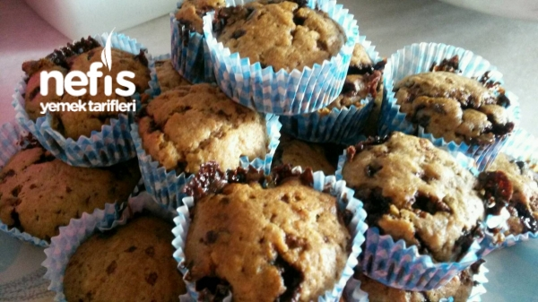 Parça Çikolatalı Muzlu Muffin
