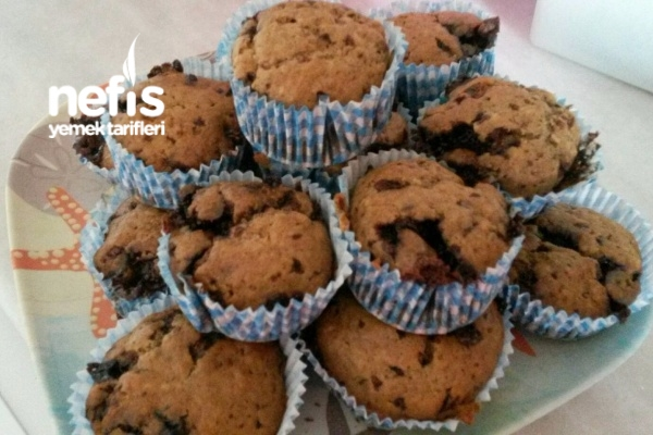 Parça Çikolatalı Muzlu Muffin Tarifi