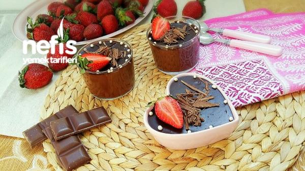 Gerçek Çikolatalı Puding (Pastane Usulü)