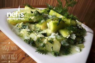 Zeytinyağlı Kabak Yemeği (Soğuk Sunum) Tarifi