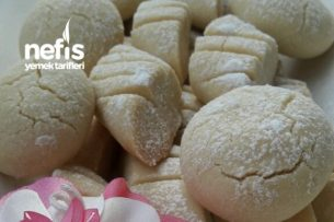 Pastane Usulü 3 Malzemeli Kurabiye (Ağızda Dağılan) Tarifi