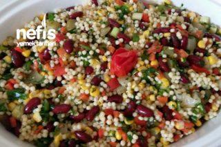 Kuskuslu Meksika Fasulyesi Salatası Tarifi